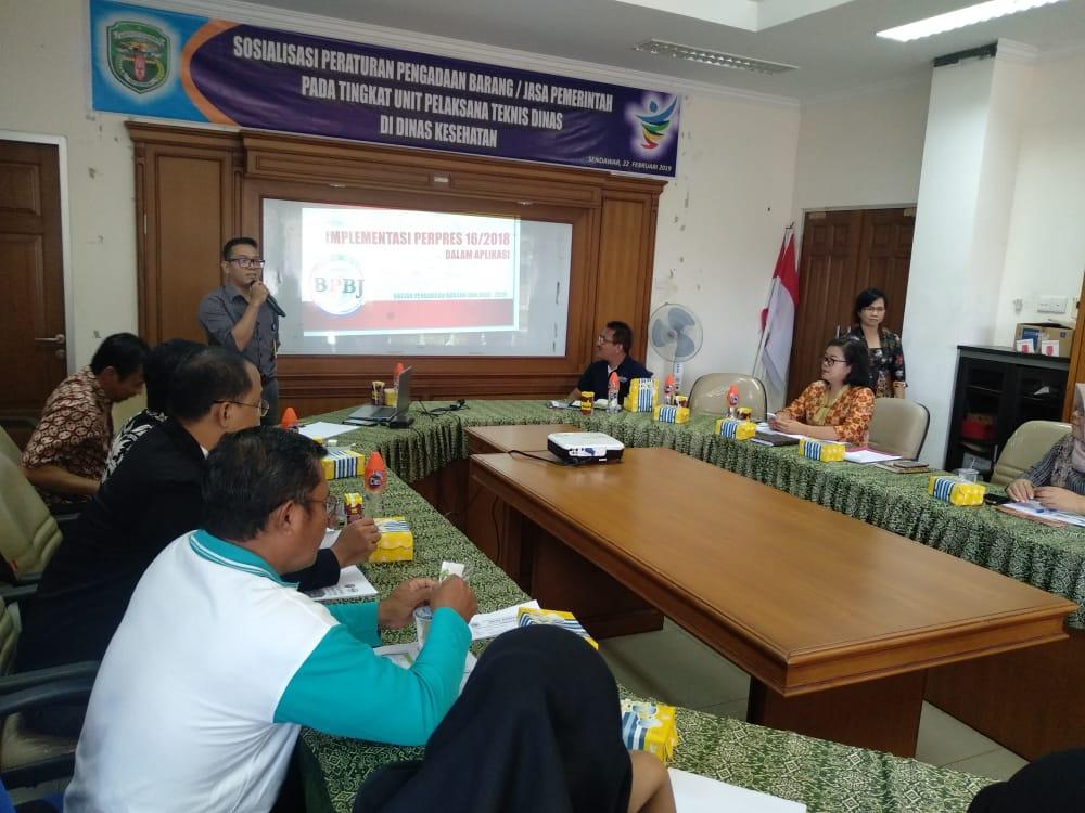 Kegiatan Sosialisasi Peraturan Pengadaan Barang/Jasa Pemerintah pada seluruh Unit Pelaksana Teknis Dinas Kesehatan Puskesmas di Wilayah Kabupaten Kutai Barat Februari 2019