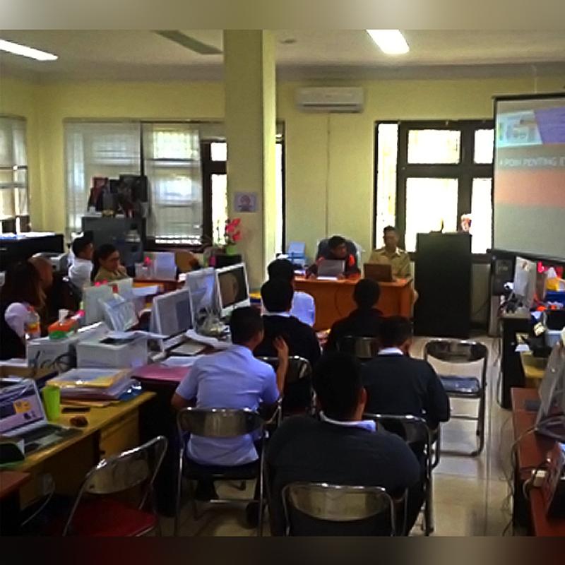 Dokumentasi Pelaksanaan Agenda Rapat Koordinasi Hearing dan Evaluasi